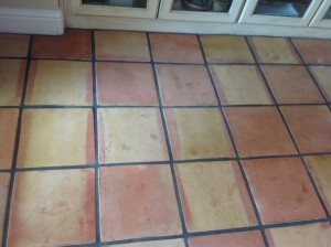 dirty saltillo tile floor coronado