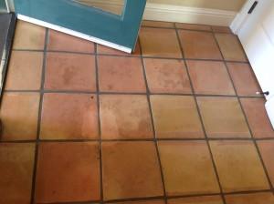 dirty saltillo tiles in coronado