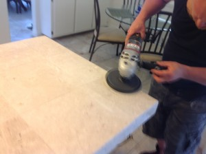 cleaning marble counters and grout