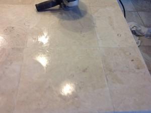 polishing marble tiles