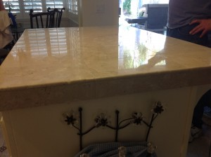polished marble countertop