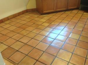 mexican tile floor restored