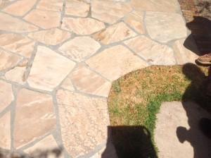 clean flagstone tiles
