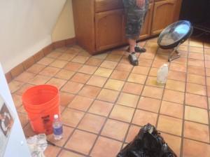saltillo tile cleaning antique