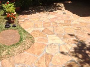 enhanced natural stone patio