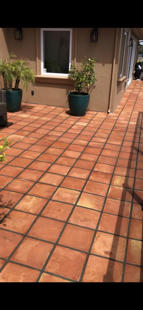 outdoor Saltillo sealed
