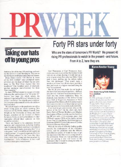PR week 40