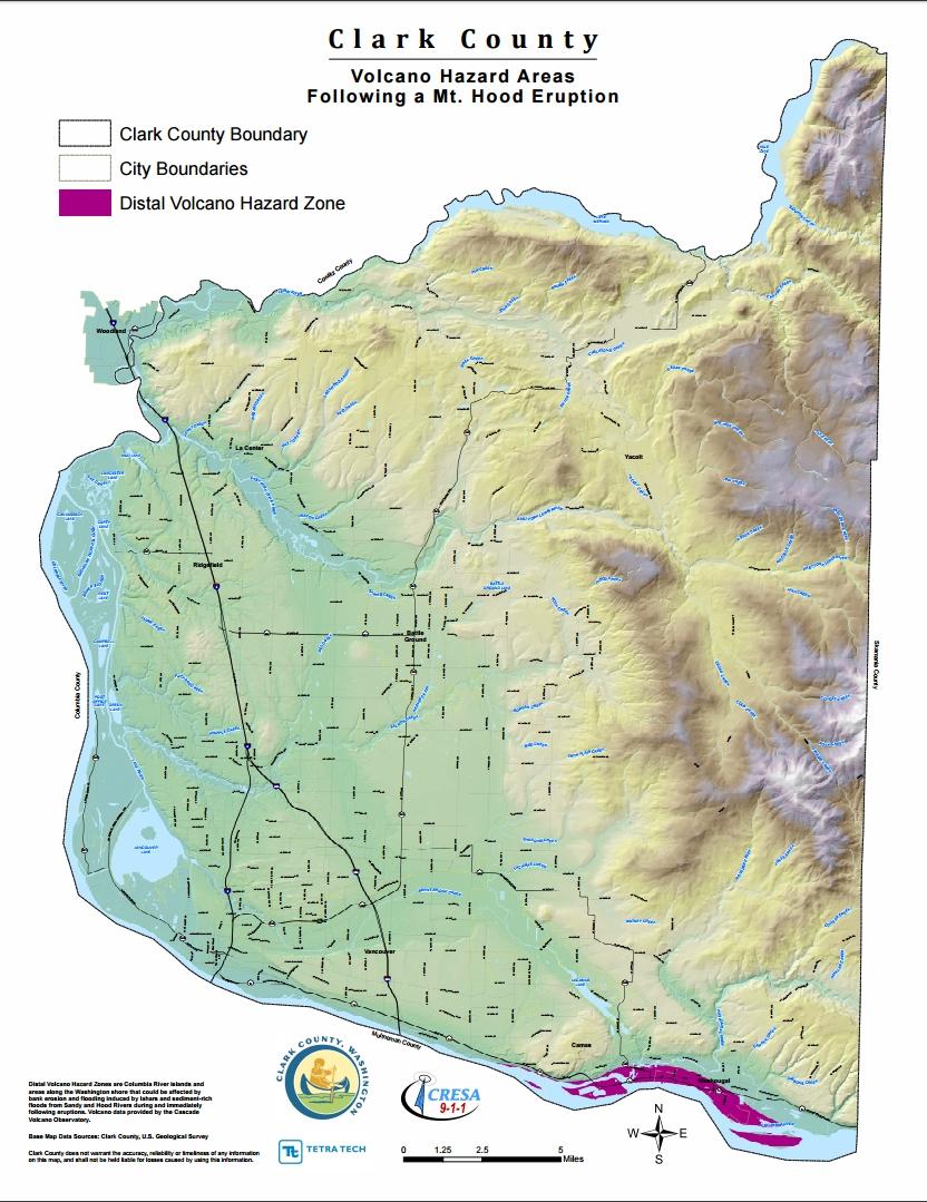 Clark County Volcano Hazard Area