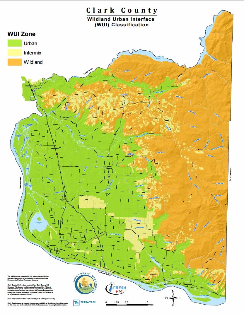 Clark County Wildland Urban Interface Hazard Area