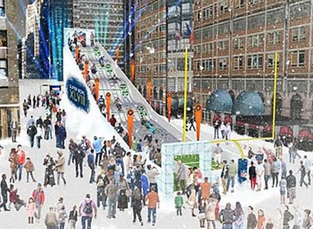 Boulevard de la Super Bowl en Times Square