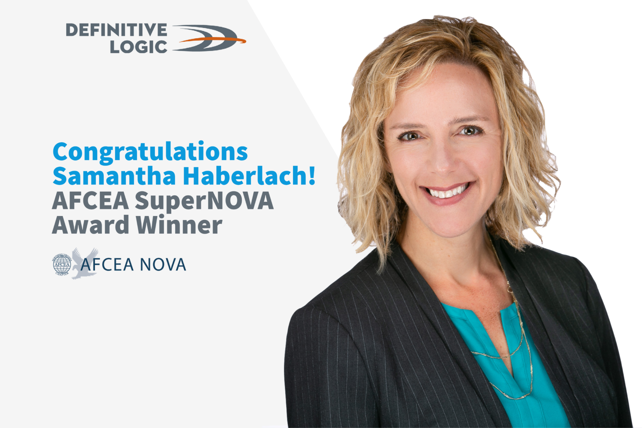 Definitive Logic's Samantha Haberlach Named AFCEA SuperNOVA December's Winner