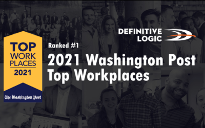 Definitive Logic Named #1 Midsize 2021 Top Workplace by The Washington Post