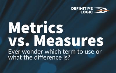 Metrics vs Measures