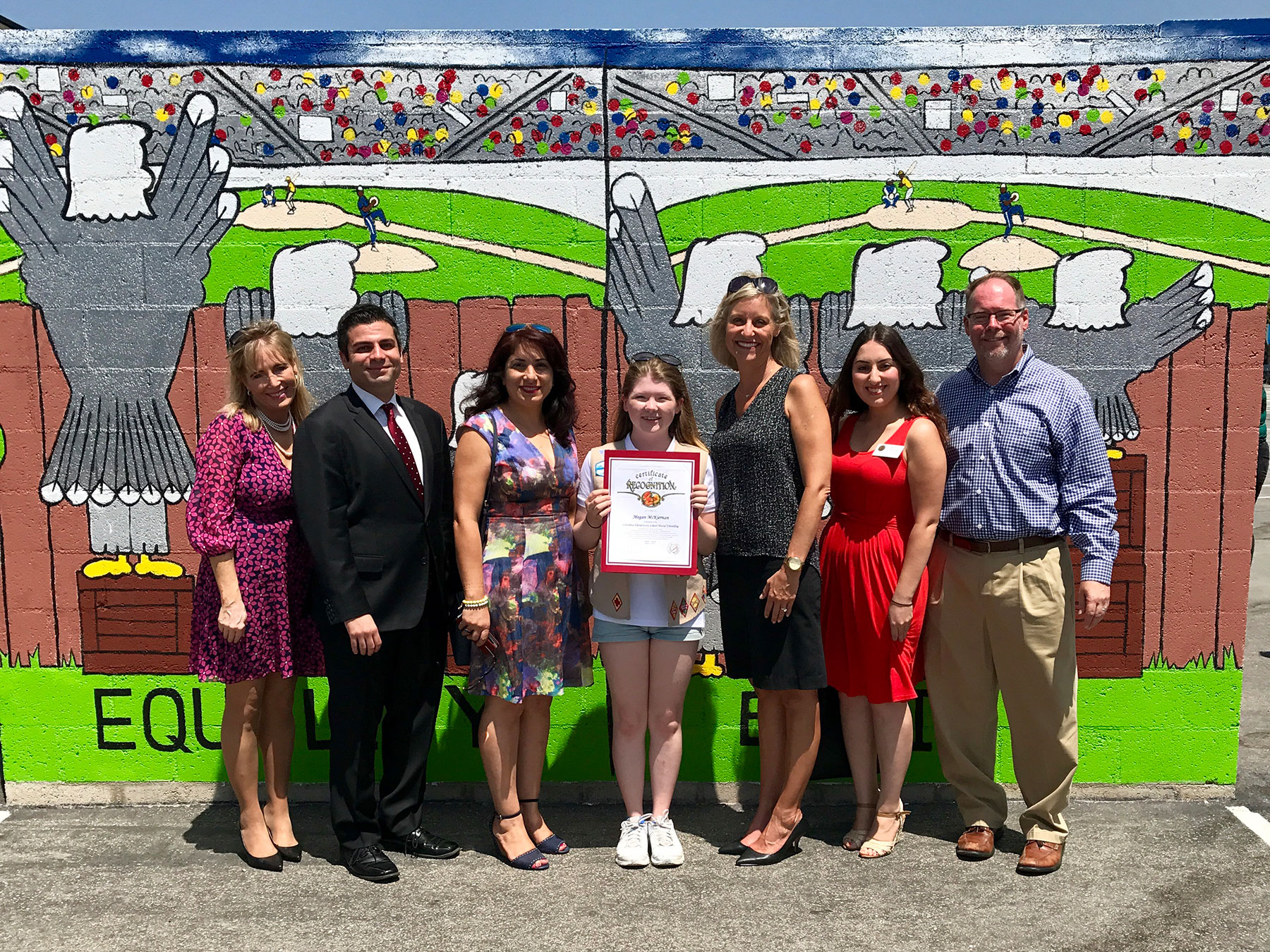 Girl Scout Paints Mural for Columbus Elementary