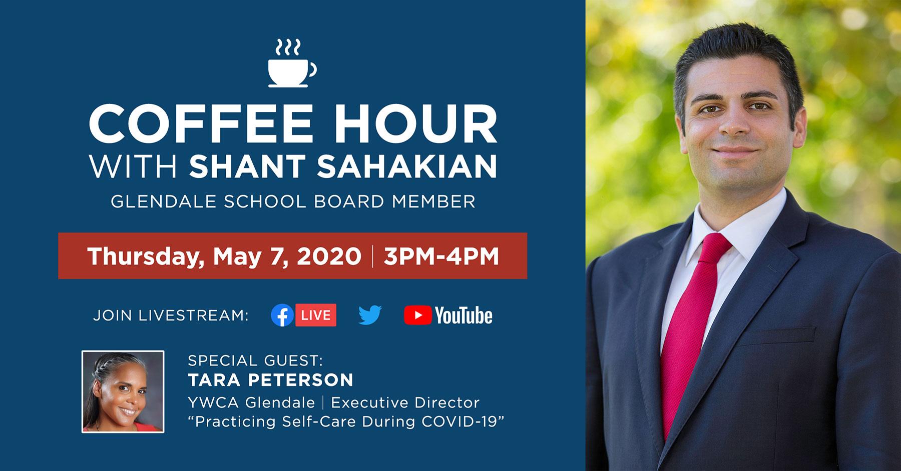 Glendale School Board Member Shant Sahakian Coffee Hour Event Flyer