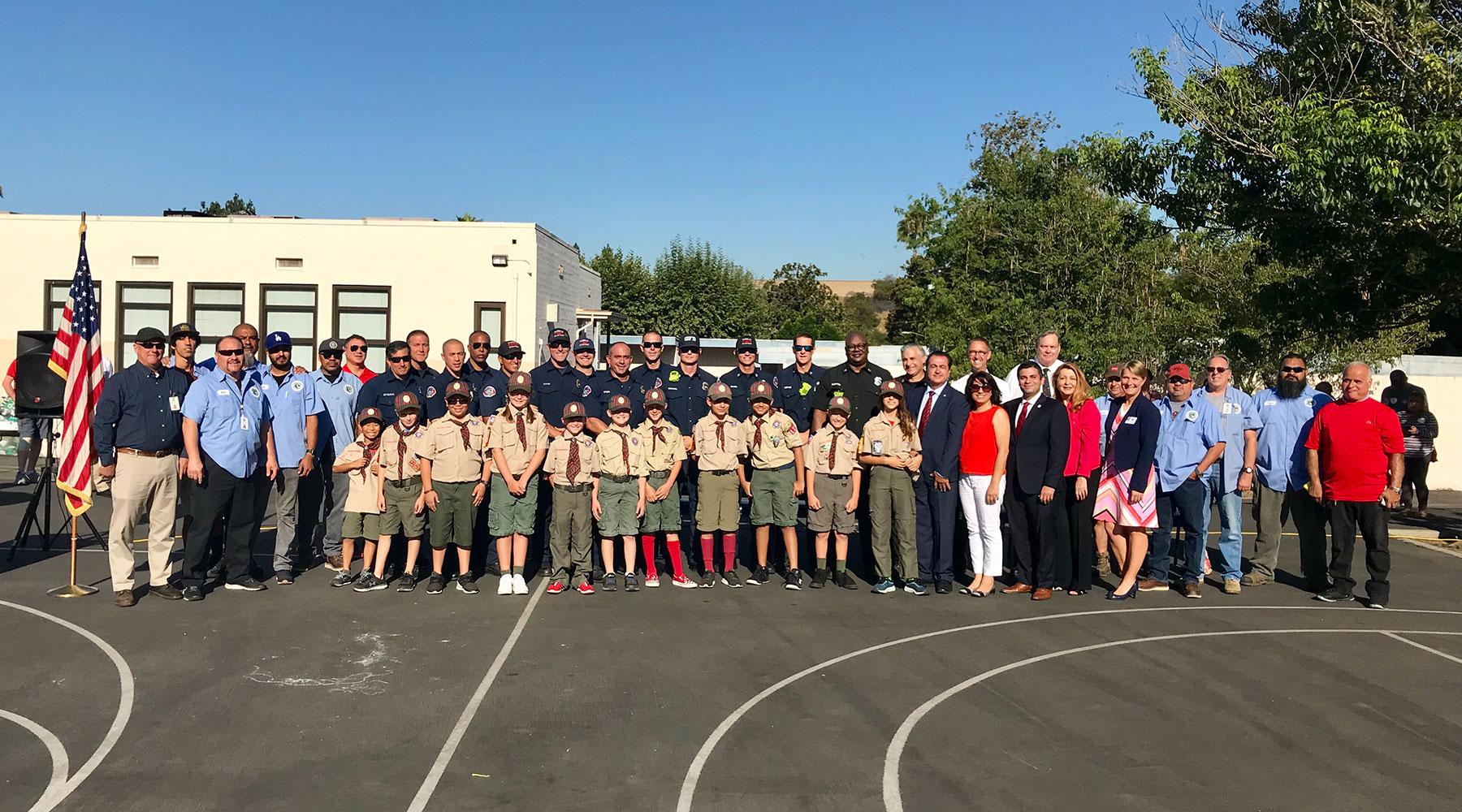 Glenoaks Elementary School Firefighters Celebration