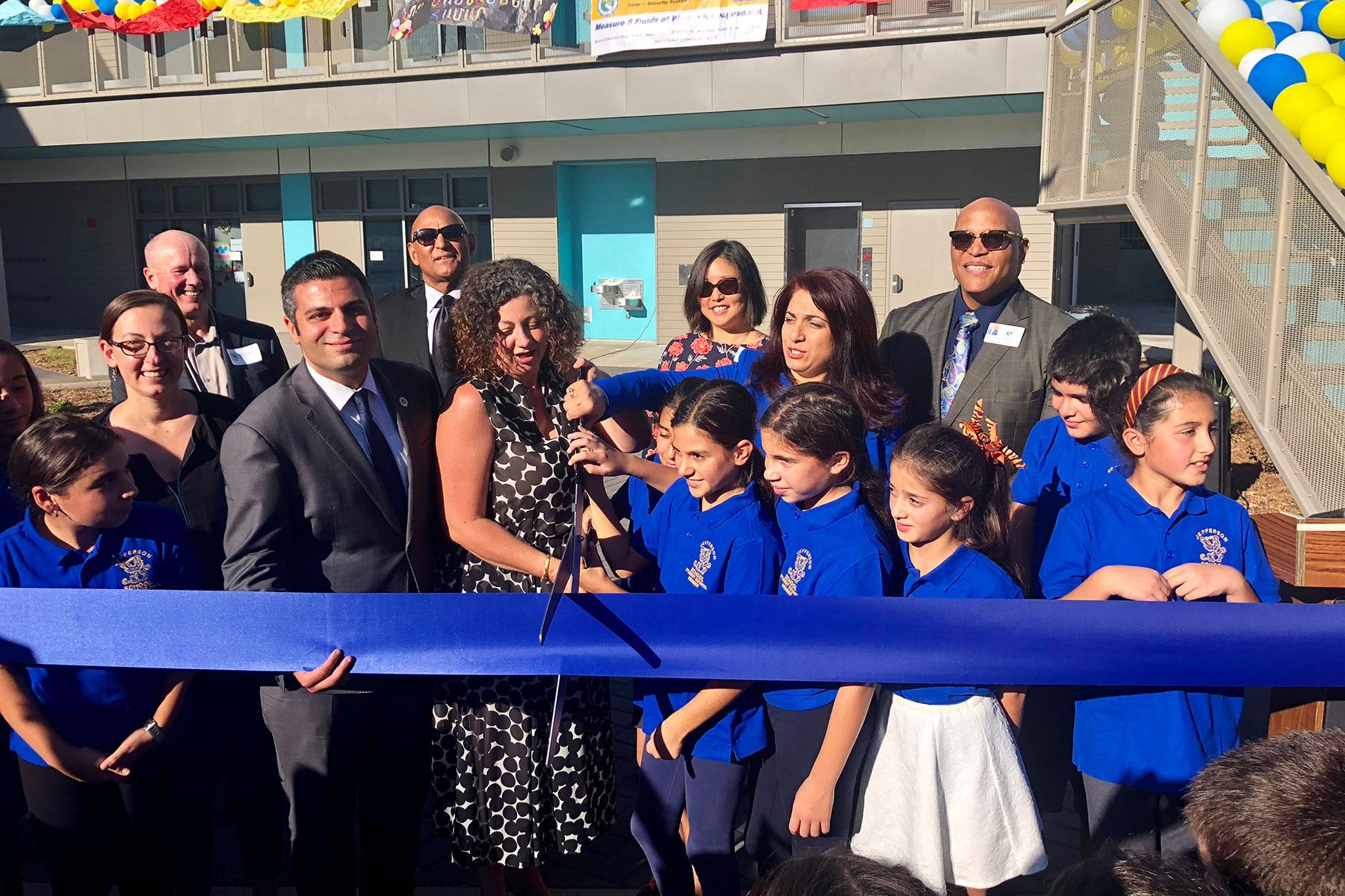 Jefferson Elementary School Measure S Ribbon Cutting Ceremony October 2018