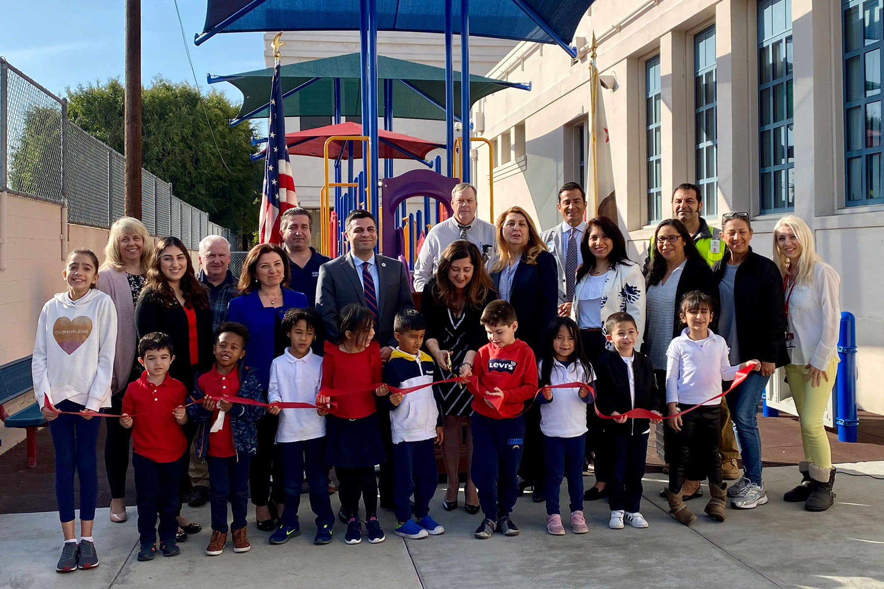Marshall Elementary School Playground Ribbon Cutting Ceremony