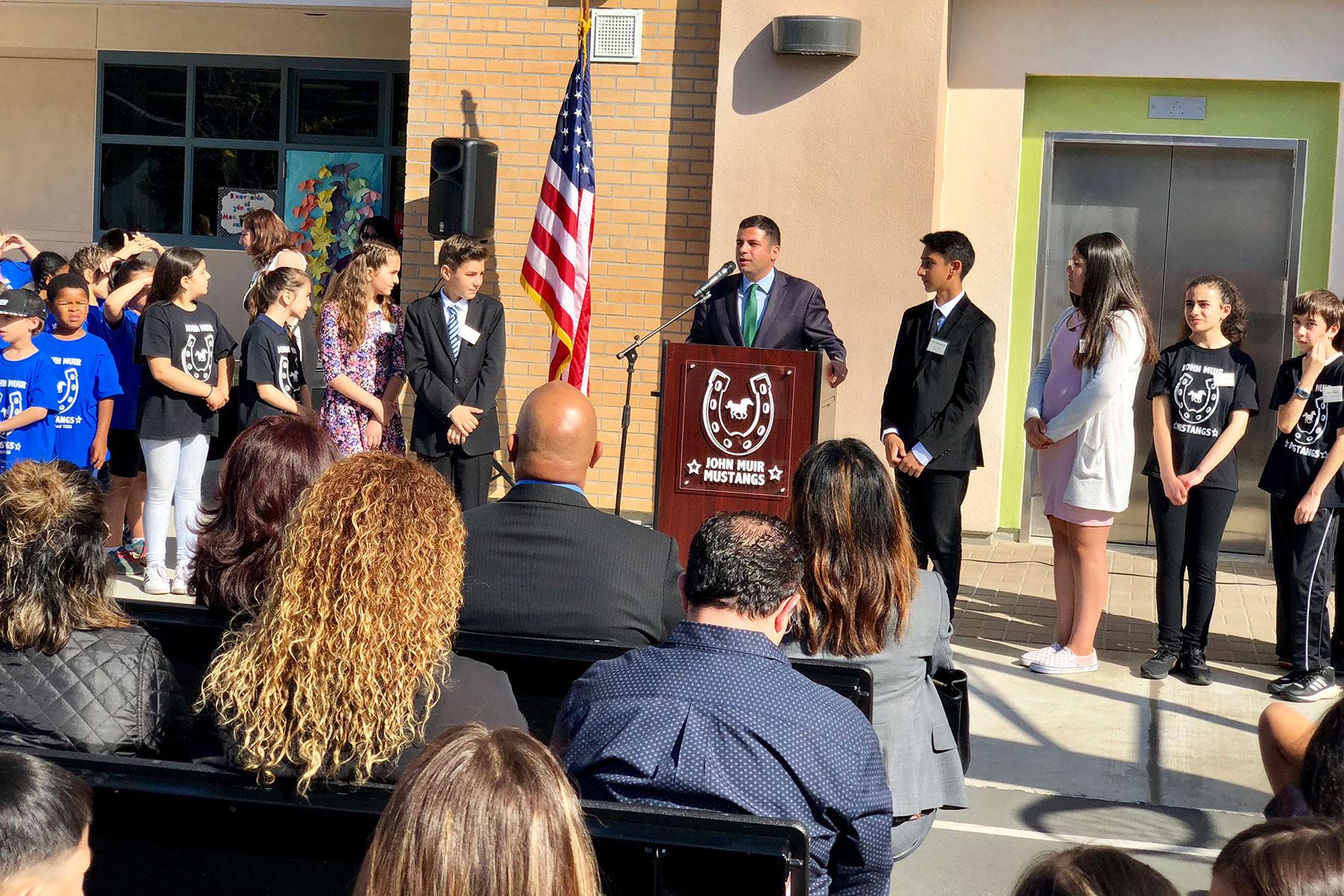 Muir Elementary School Measure S Ribbon Cutting Ceremony April 2018
