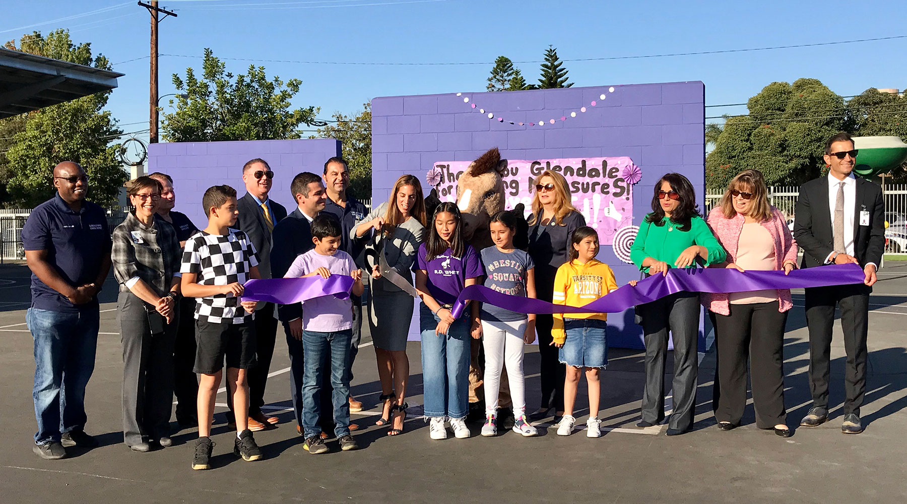 R.D. White Elementary School Playground Ribbon Cutting Ceremony