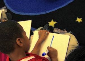 Oakland Boy Drawing