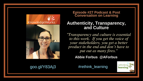 Authenticity, Transparency, and Culture with Abbie Forbus