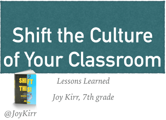 Shift the Culture