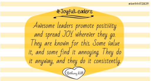 Quote about JoyfulLeaders - Bethany Hill
