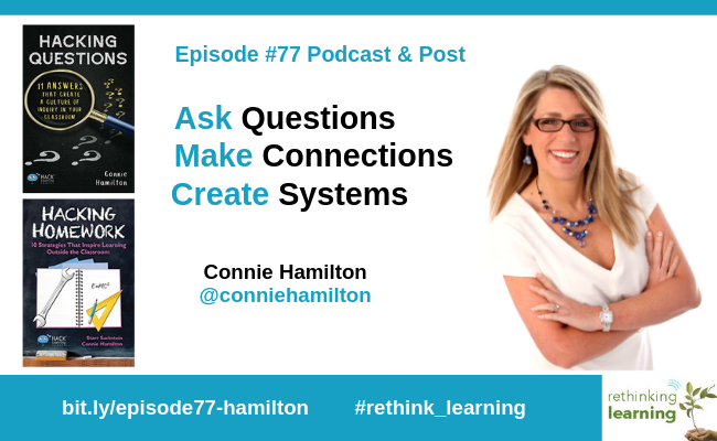 Episode77-Ask Questions, Make Connections, Create Systems with Connie Hamilton