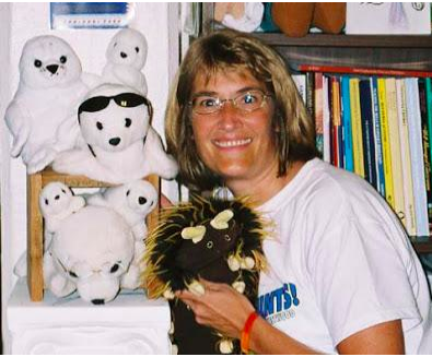 Barbara Gruener with Stuffed Animals