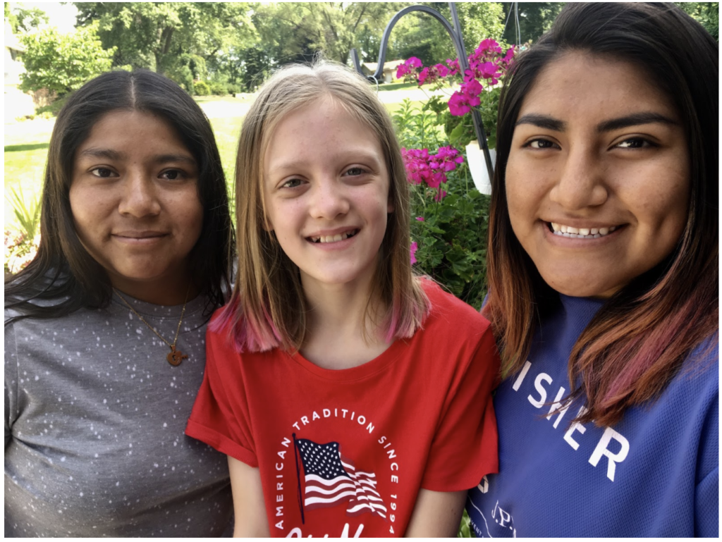 Steve Sostak's daughters in 2018: Jessica, Lucy, and Fatima