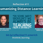 Reflection #11 on Humanizing Distance Learning with Paul Emerich France