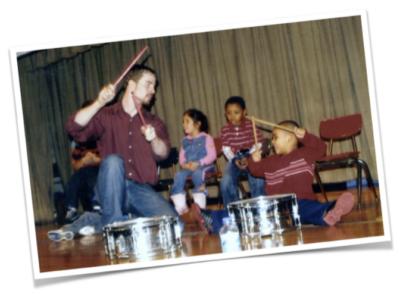 Sean Arnold teaching music