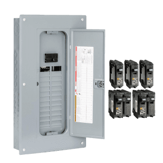 An electrical panel installed by RJL Electrical
