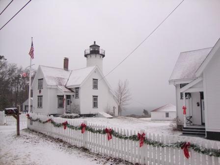 Uta Kloss, Winter at the West Chop Light