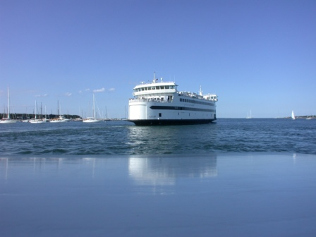 Island Home arriving in Vineyard Haven Harbor