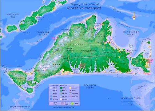 GLORIA MYLYK, MARTHAS VINEYARD MAP