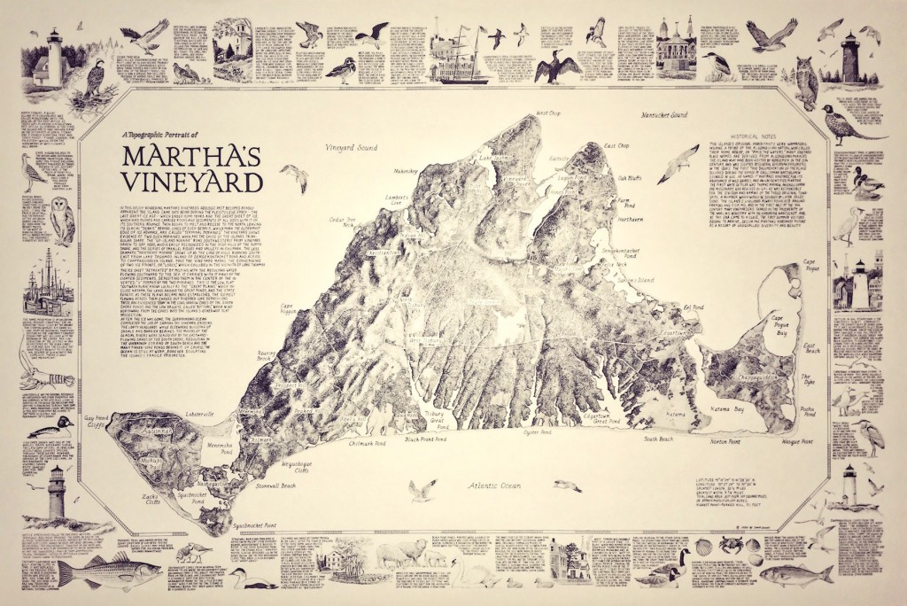 "Dana Gaines, Topographical Map ""Martha's Vineyard"""