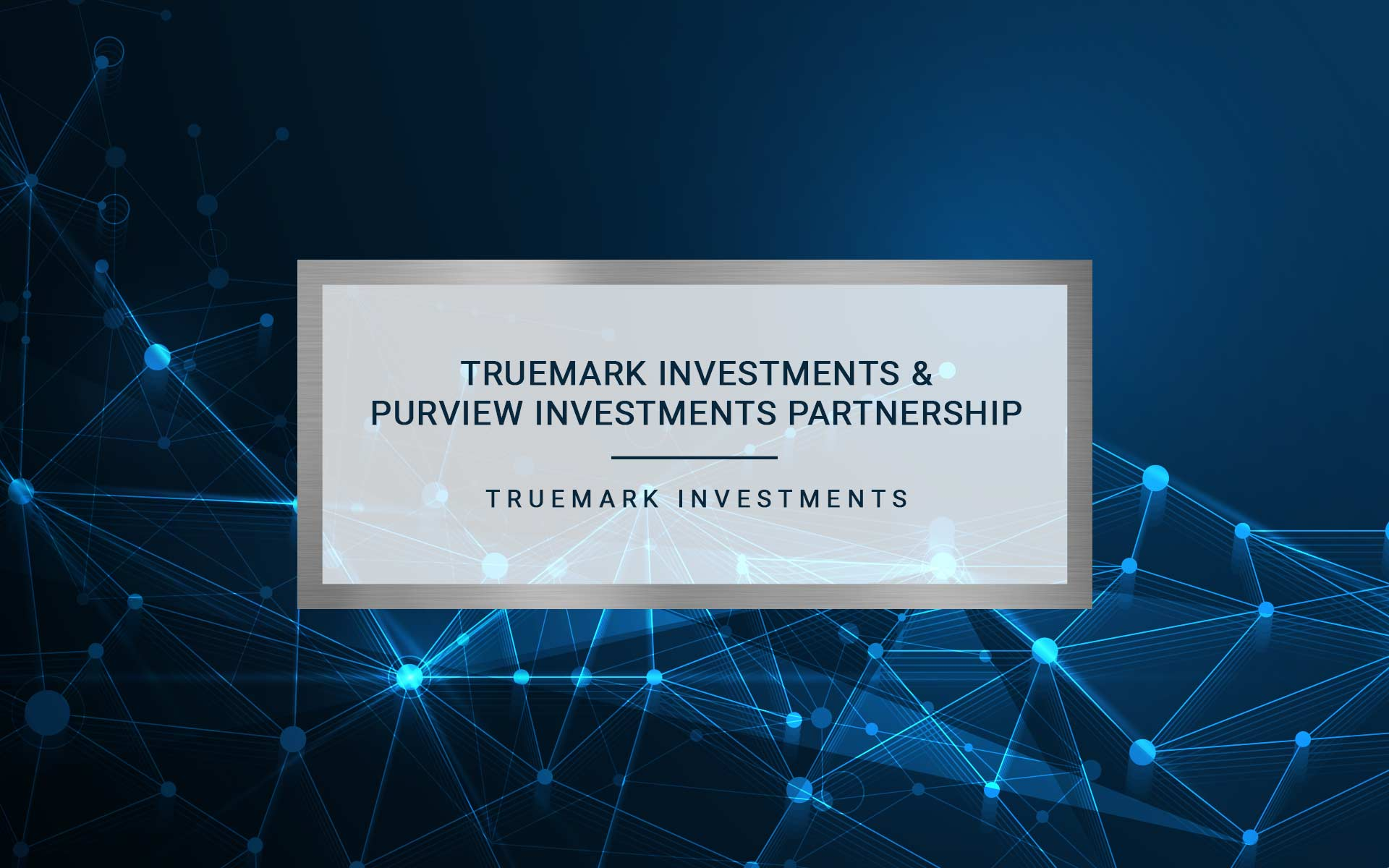 TRUEMARK INVESTMENTS AND PURVIEW INVESTMENTS