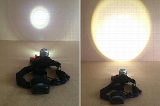 ARB LED Head Lamp beam comparison