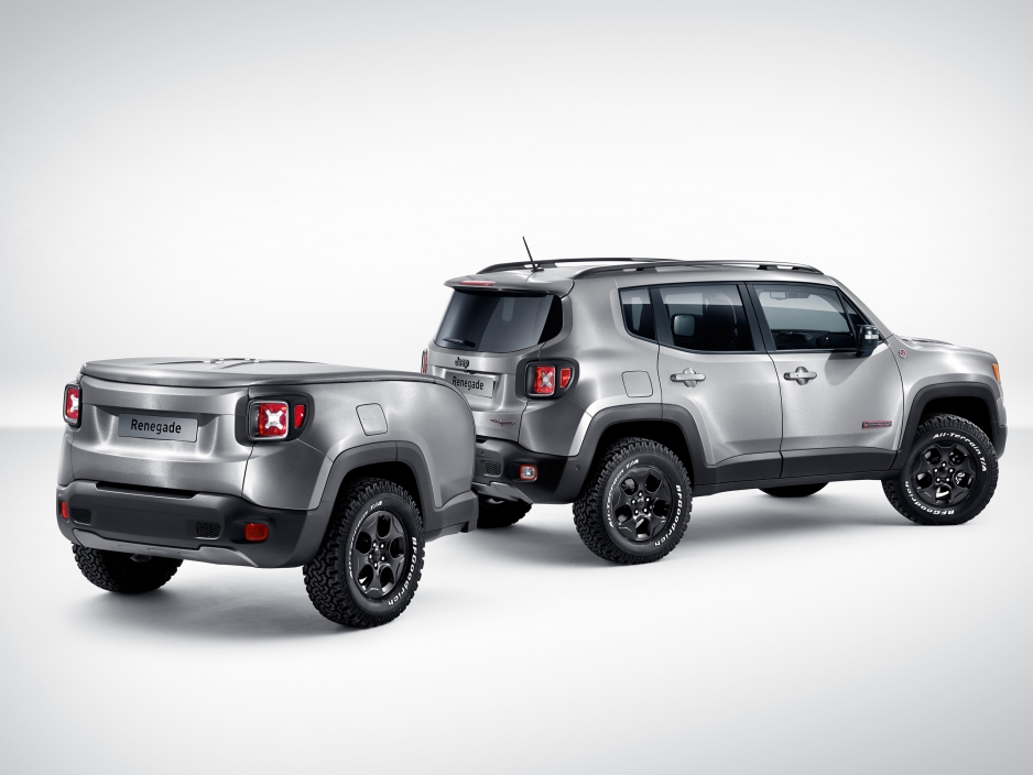 Jeep Renegade Hard Steel with trailer