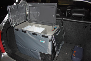 A Jeep fridge-freezer
