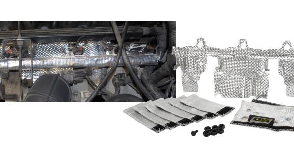 The DEI 4.0L fuel rail & injector cover kit to help reduce heat soak