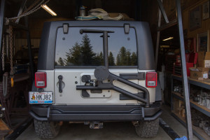 AEV Rear Bumper and Tire Carrier installed