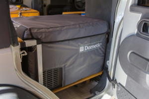 I added an insulated cover to my Dometic CFX-35 fridge which should help a lot in the heat of Africa