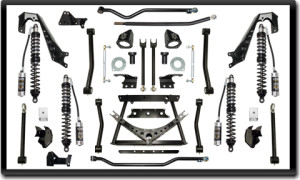 """ICON Vehicle Dynamics 4.5-6"""" coilover conversion kit components"""