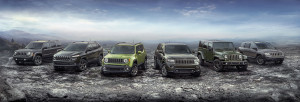 2016 Jeep® 75th Anniversary edition complete model lineup