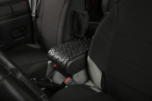 Rugged Ridge Center Console Cover Installed