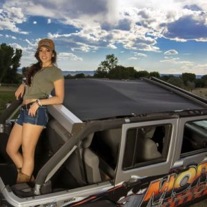 MORE Jeep JK roller sun shade