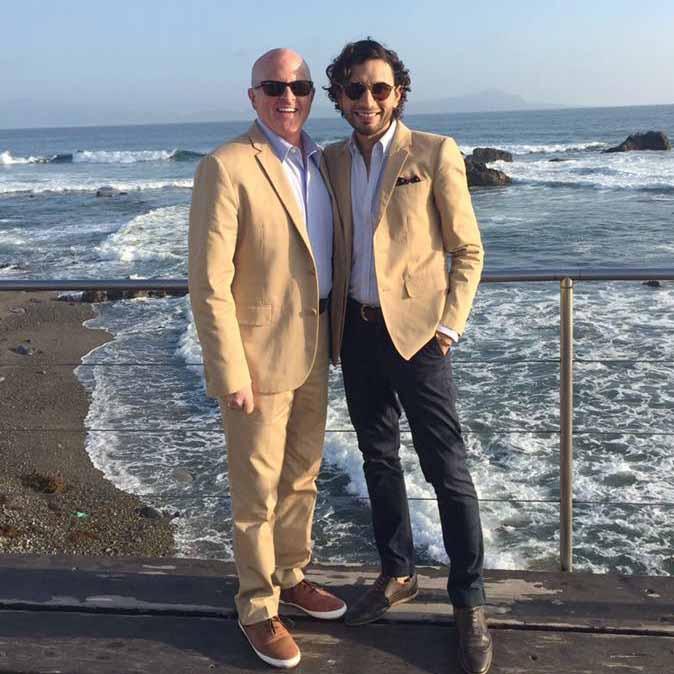 Patrick with his husband Rodrigo.